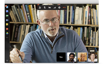 Messaging collaboration via Google Hangouts