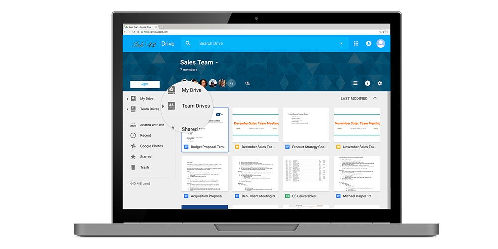 The new Team Drives feature in Google Drive enterprise.
