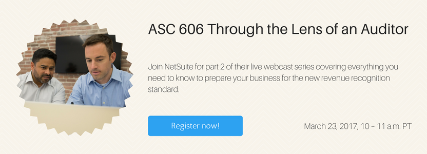Webinar: ASC 606 Through the Lens of an Auditor