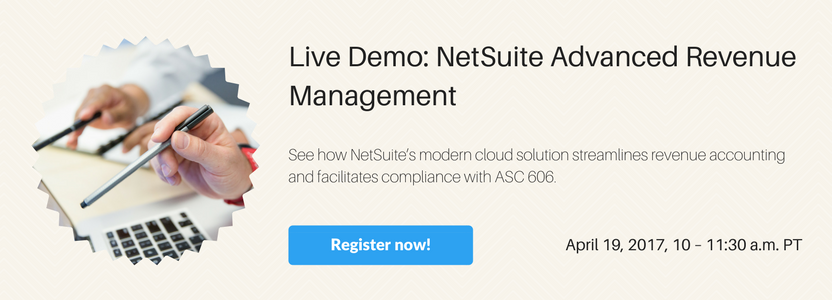 Live Demo: NetSuite Advanced Revenue Management