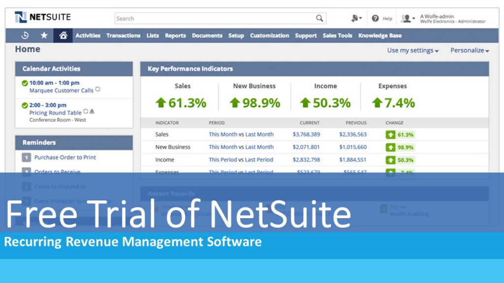 Free Trial of NetSuite